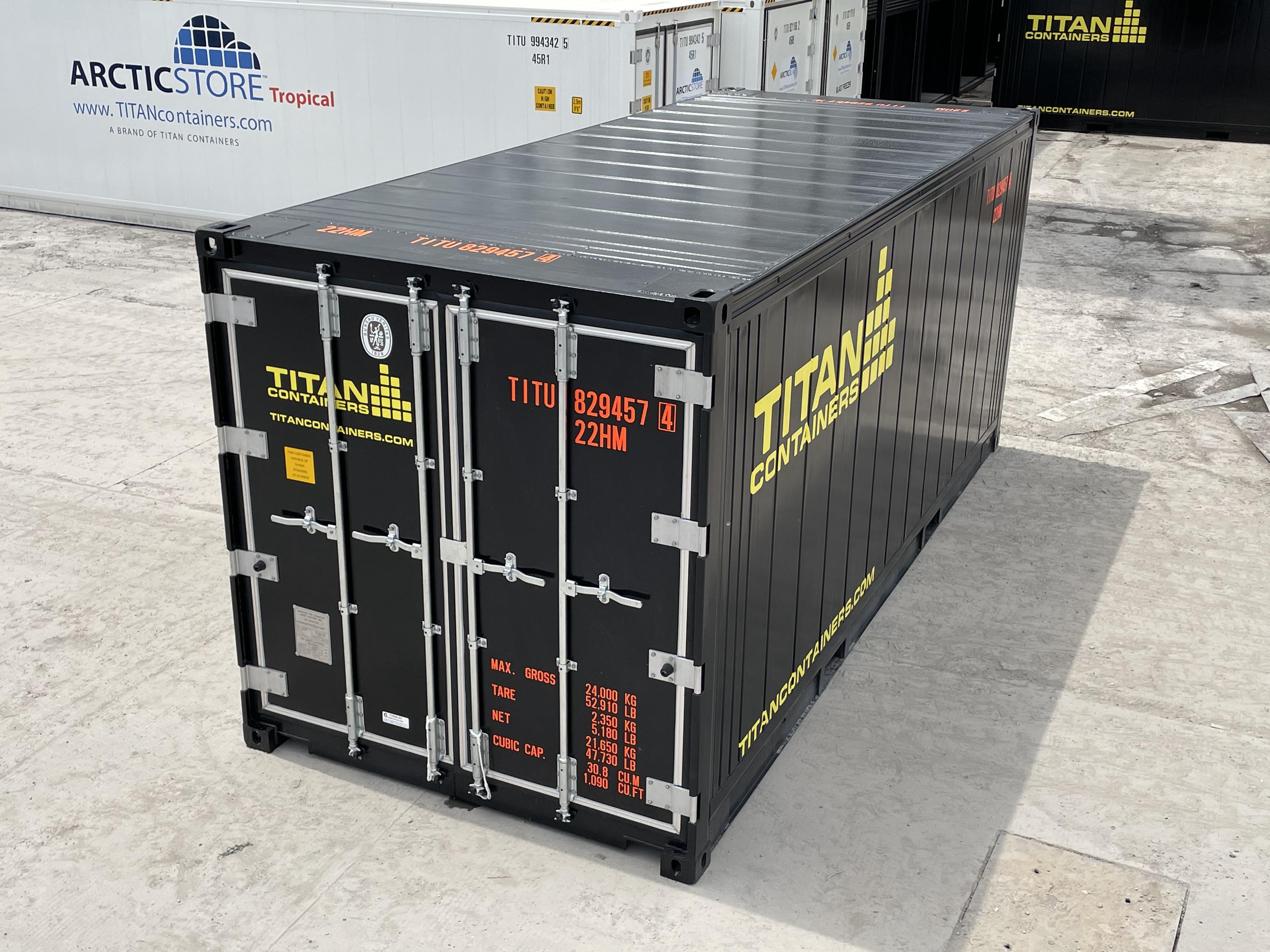 Hotstorage container in black