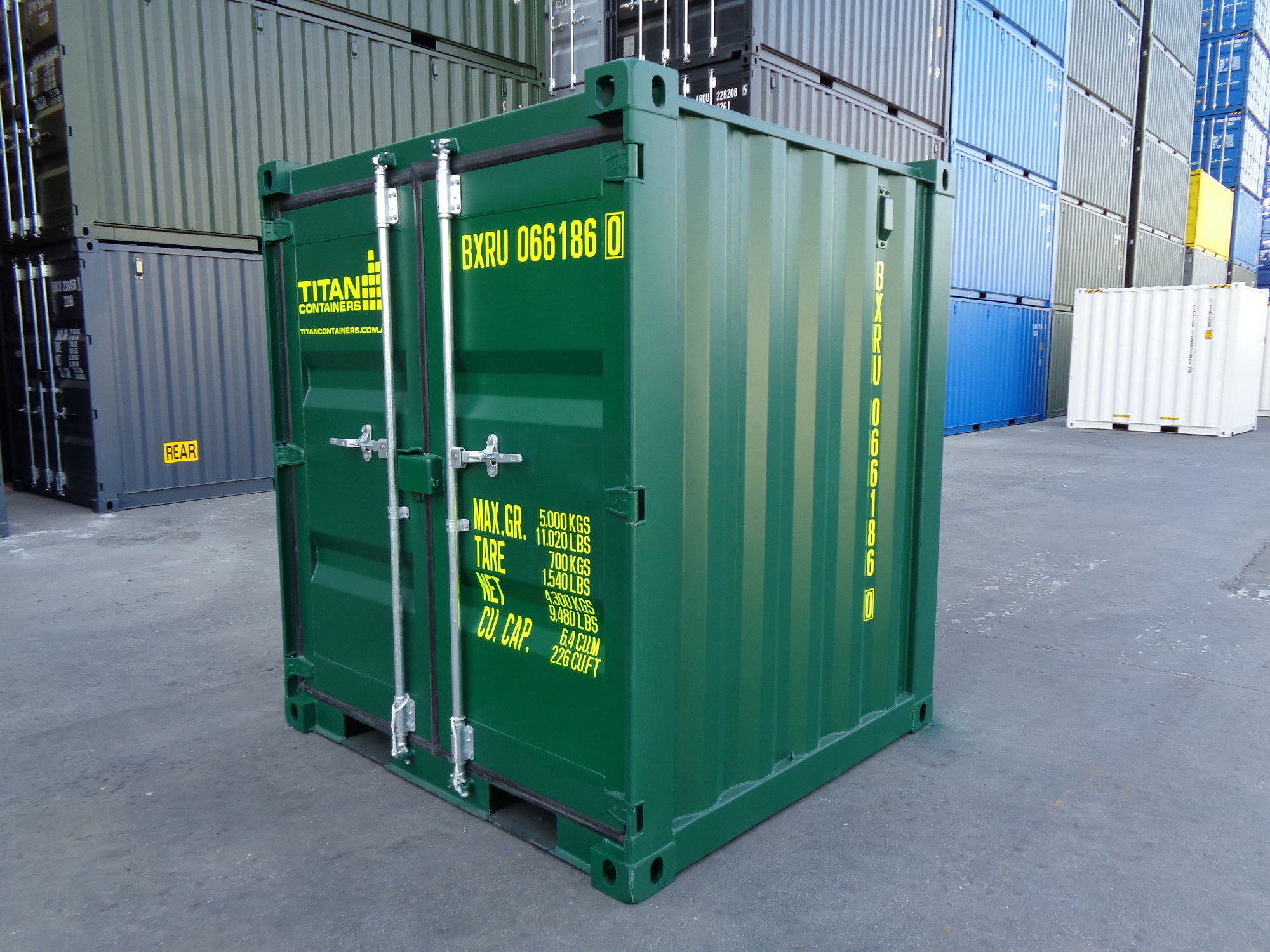 New green 6 container - extra high