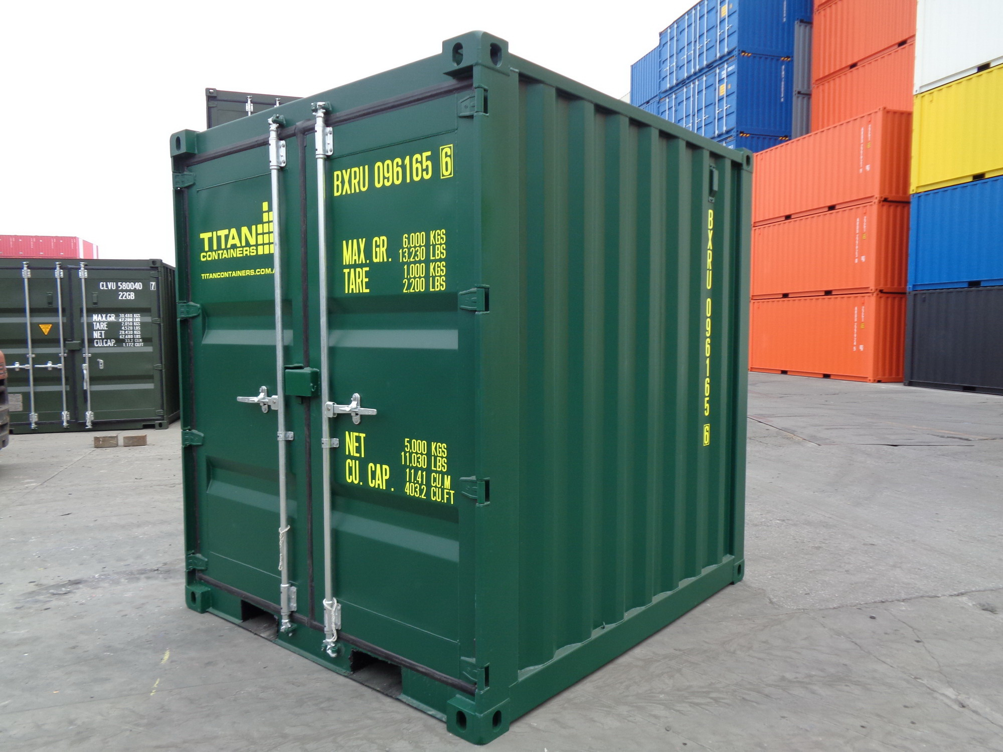 New green 8 container - extra high
